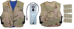 Evaporative & Phase Change Cooling Military Vest w/Built-in Hydration System