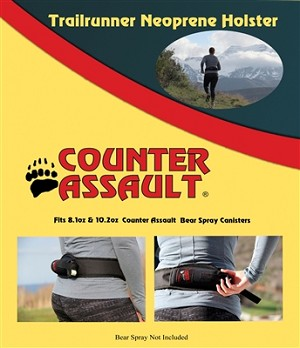 Trail Runners Neoprene Bear Spray Holster Belt Large-Extra Large