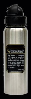 Mission Ready Stainless Steel, Flip Top, Water Bottle
