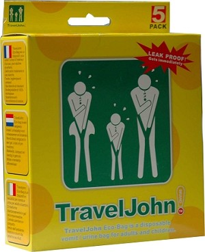 TravelJohn Disposable Vomit/Urine Bag for Adults & Children