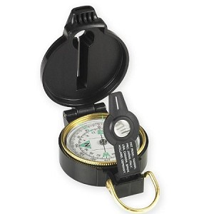 NduR 51540 Lensatic Compass with Whistle